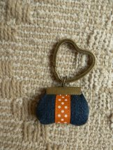 Denim Little Bag Key Ring