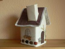 Zsebkendő tartó házikó