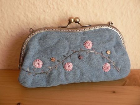 Denim Spectacle Case with Clutch