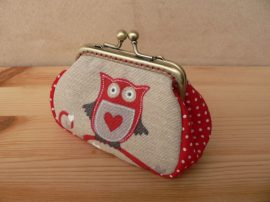 Owl Clutch Purse, 8 cm