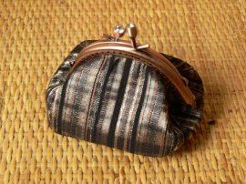 Íves rézszínű pénztárca 8 cm
