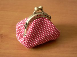 Piros pöttyös pénztárca 4,5 cm