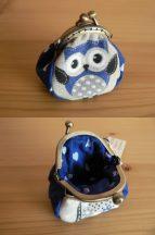 Mini Clutch Purse with Owl, 4.5 cm