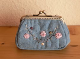 Denim Clutch Purse, 10 cm