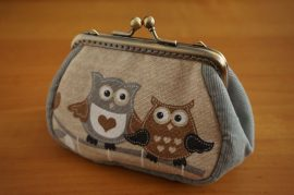 Owl Clutch Purse, 10cm
