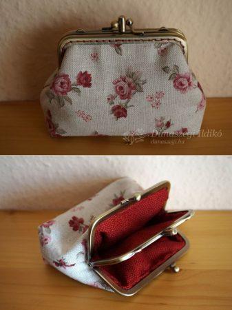 Bordó rózsás dupla pénztárca