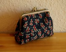 Clutch Purse with Hearts, 10 cm