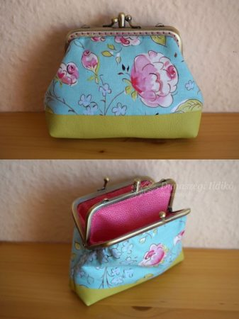 Double Clutch Purse with Roses, 10 cm