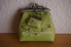 Zöld textilbőr 8 cm