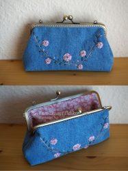 Farmer hímzett pénztárca 15 cm