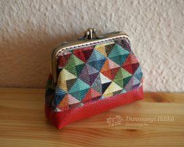 Pirosan kockás pénztárca 10cm