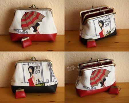 Felemás dupla pénztárca 12 cm