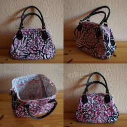 Pink Bag with Flowers