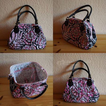 Rózsaszín virágos táska