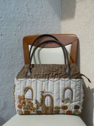 House Shaped Bag With Leather Handle