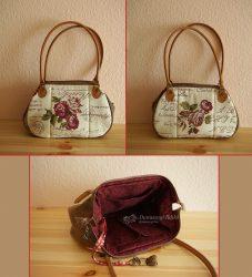 Rózsás táska 70 cm füllel