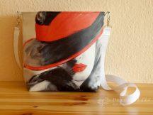 Egyedi festett textilbőr táska